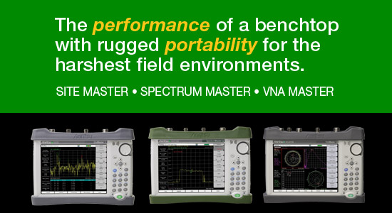 The performance of a benchtop with rugged portability for the harshest field environments. Site Master - Spectrum Master - VNA Master